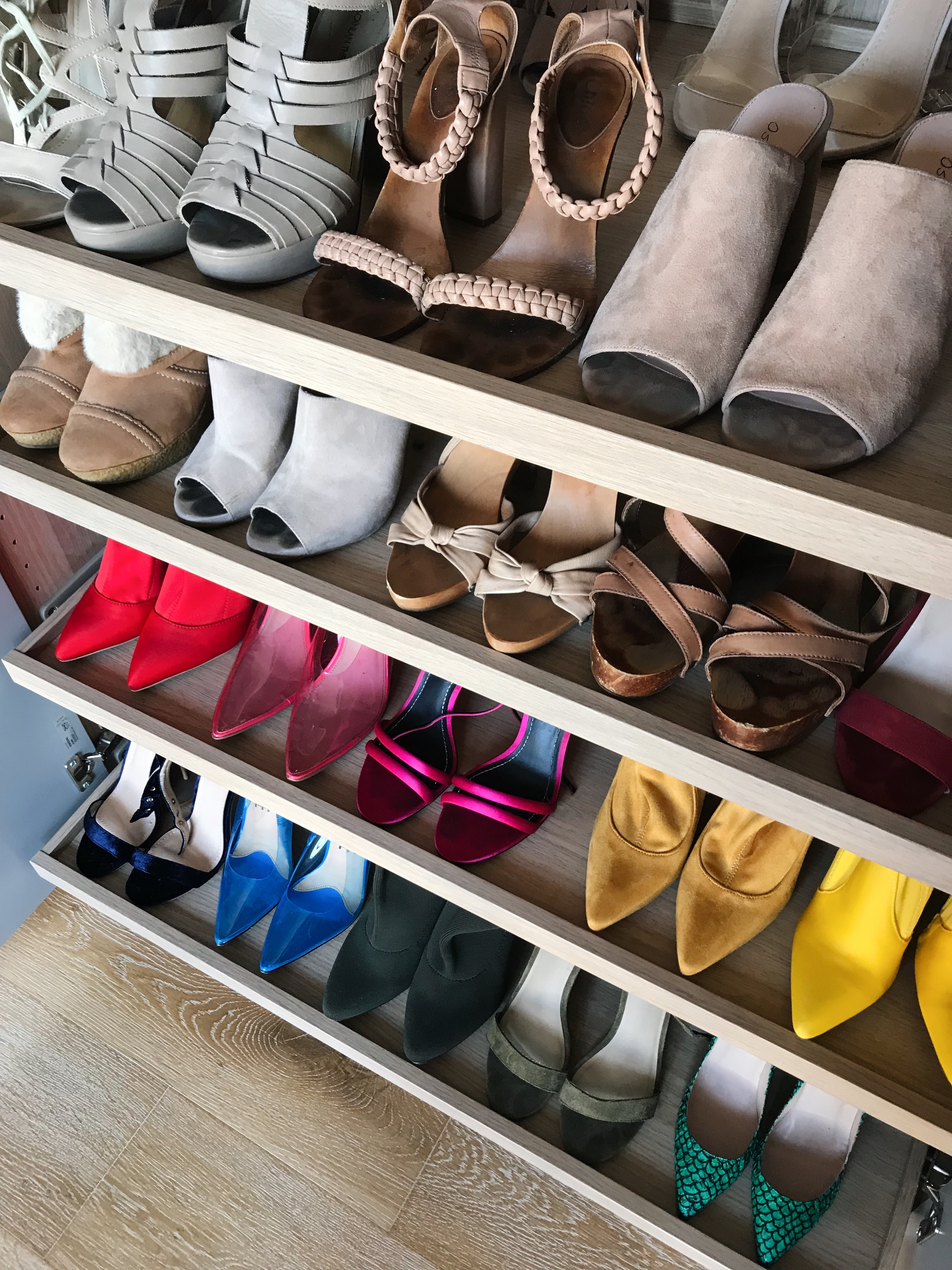 Colourful high heel collection
