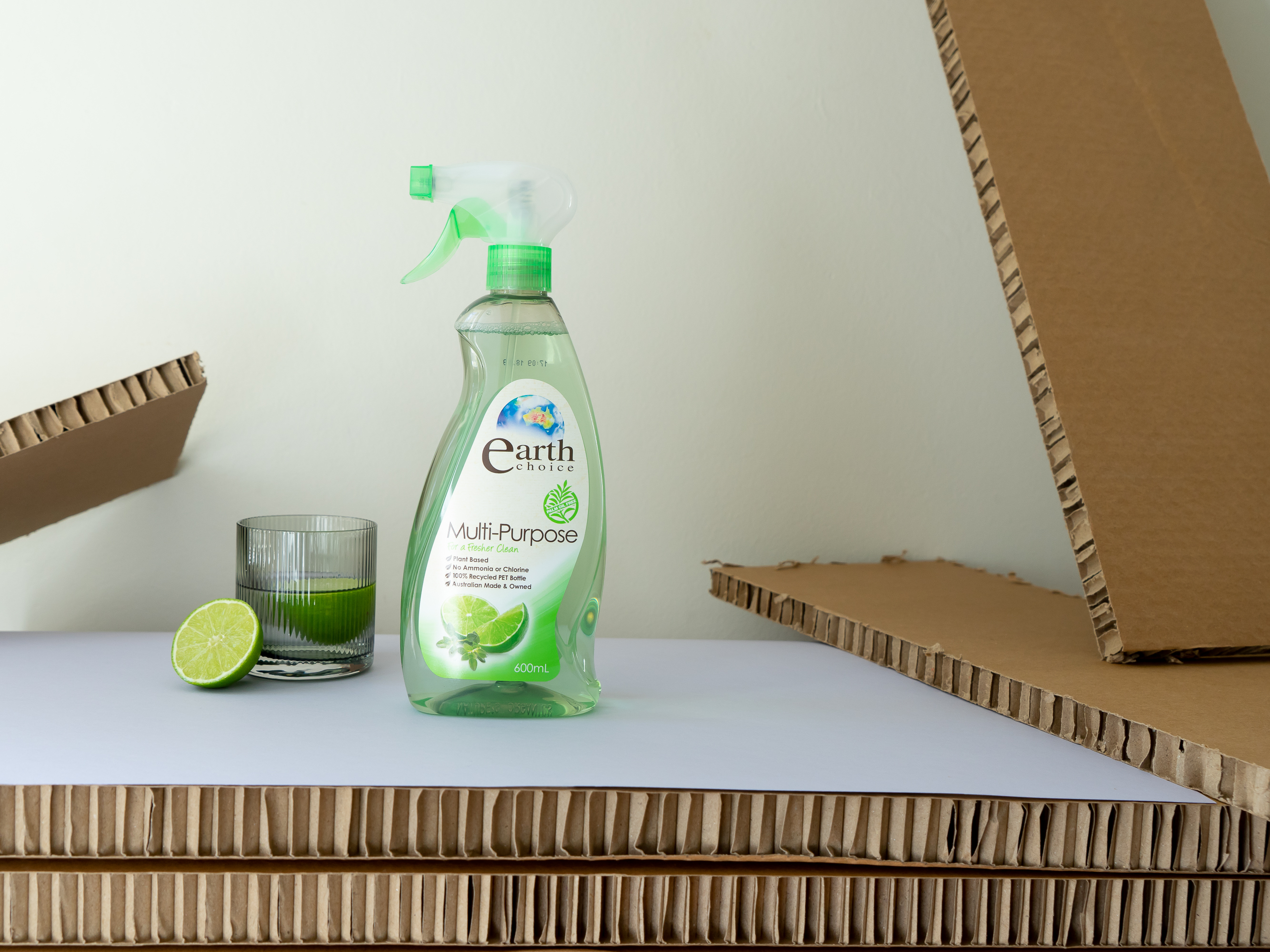 Earth Choice green eco cleaning spray with lime