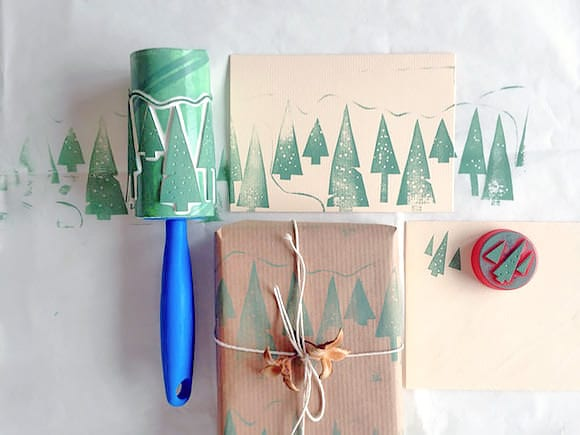 ikea lint roller hack for wrapping paper