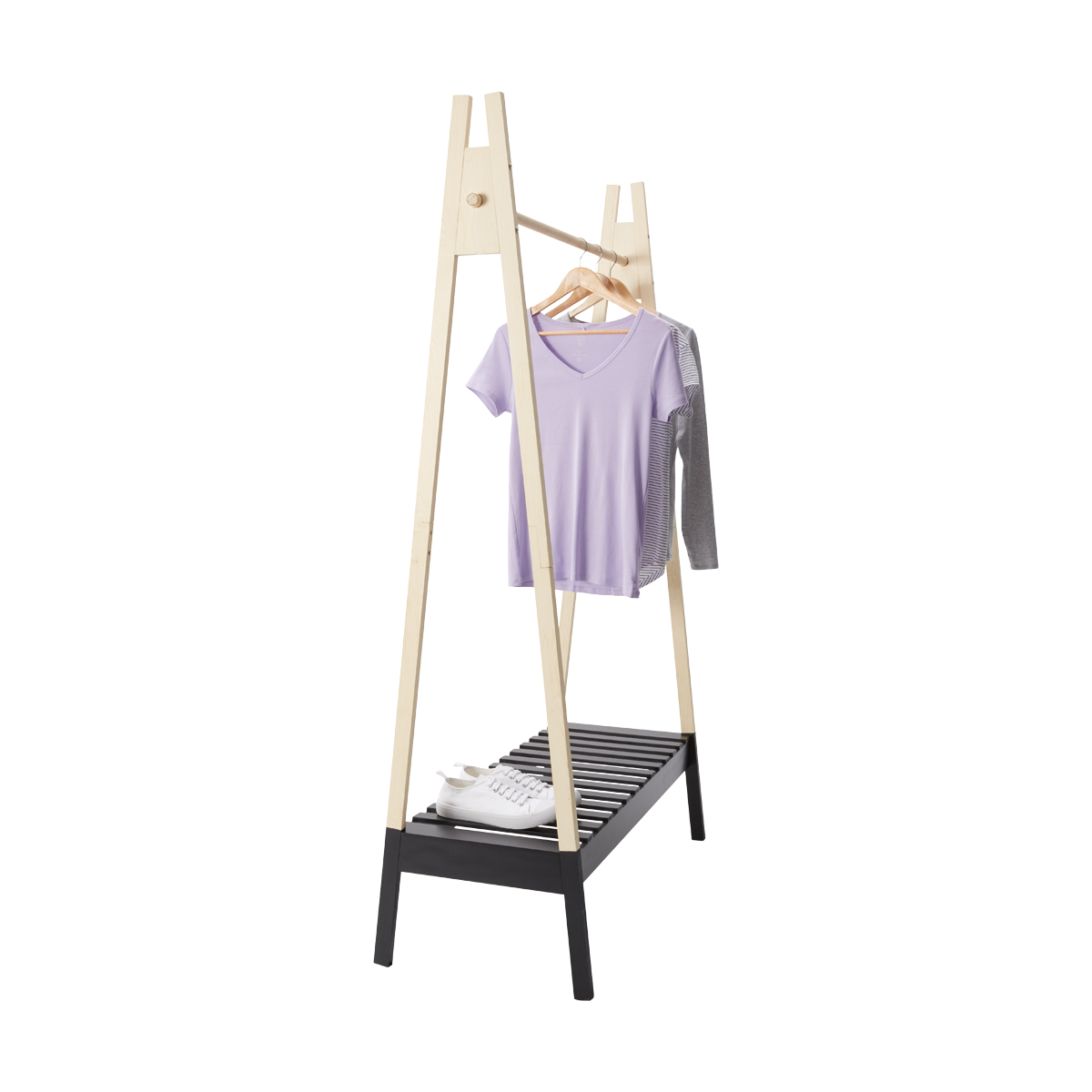 Kmart timber clothes rail