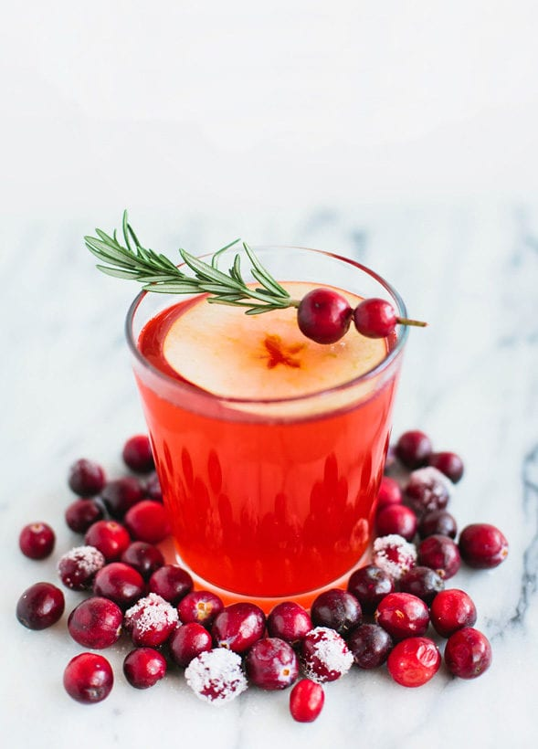 red cranberry mocktail