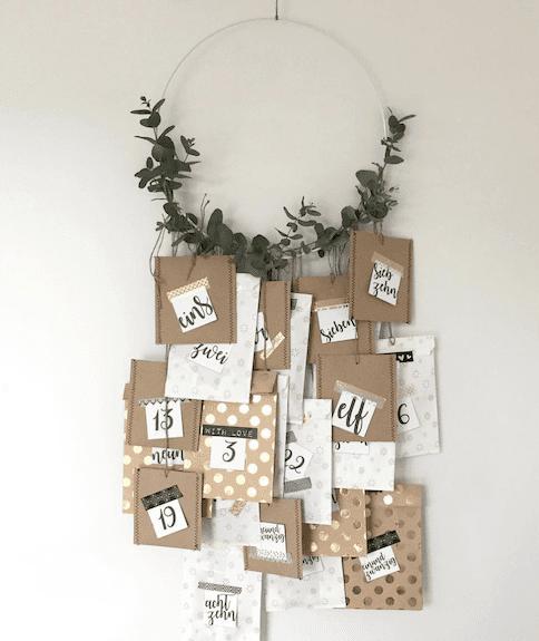 advent calendar DIY wreath project