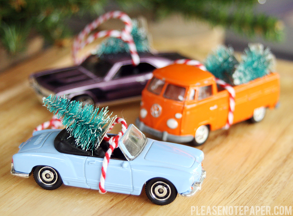 classic matchbox car Christmas ornaments