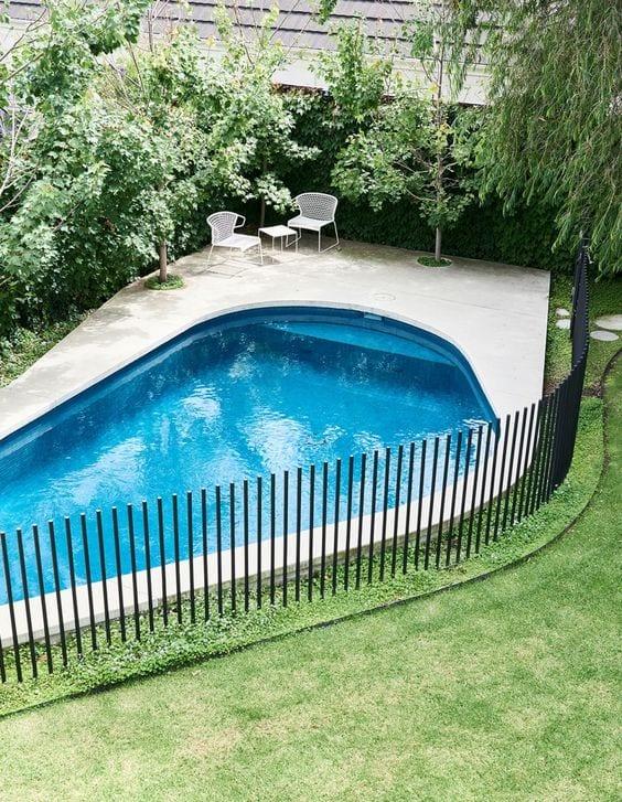backyard-ideas-pool-fence-metal
