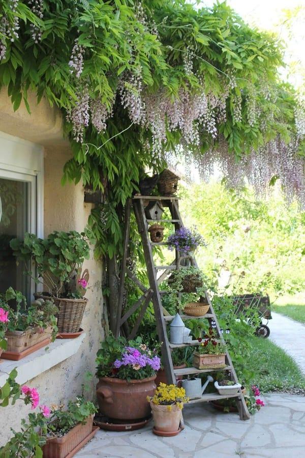 backyard-ideas-upcycle-diy-ladder