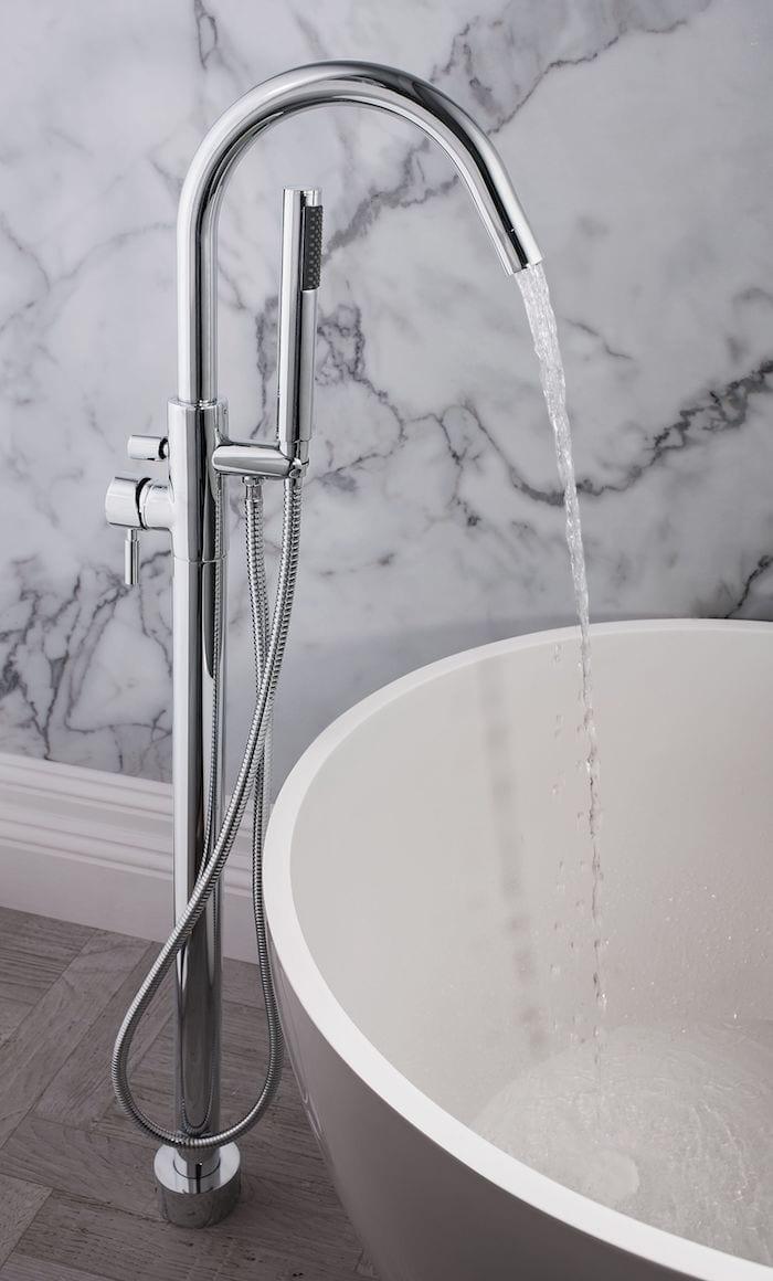bath floor tap