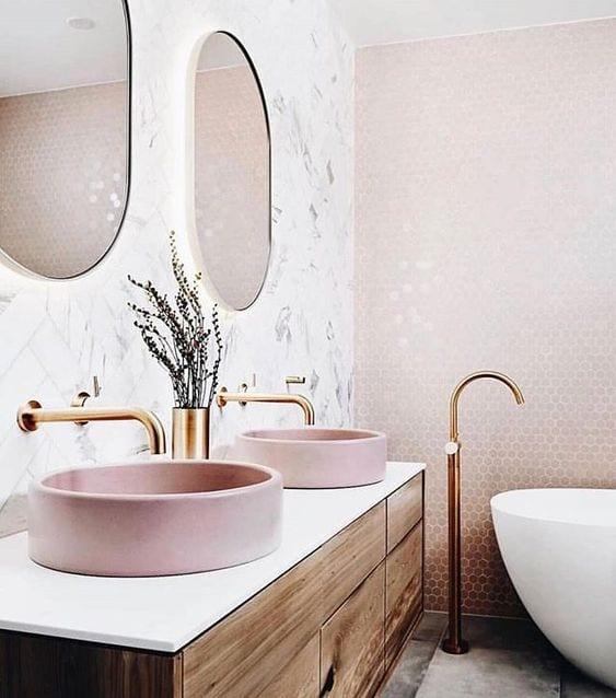 Pink bathroom sink idea
