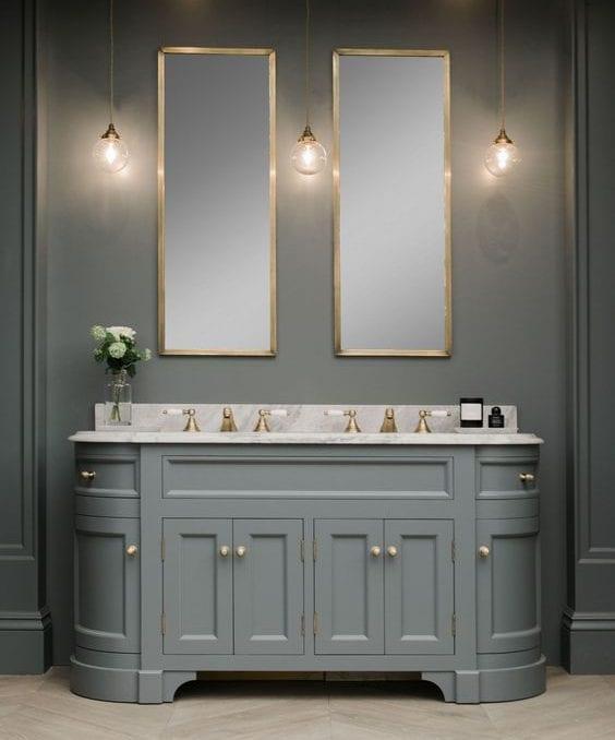 retro double bathroom vanity