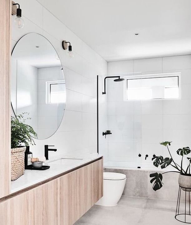 Modern shower over bath