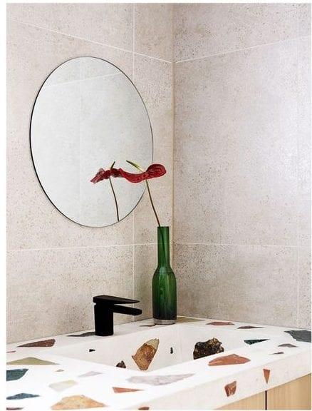 terrazzo bathroom sink and countertop