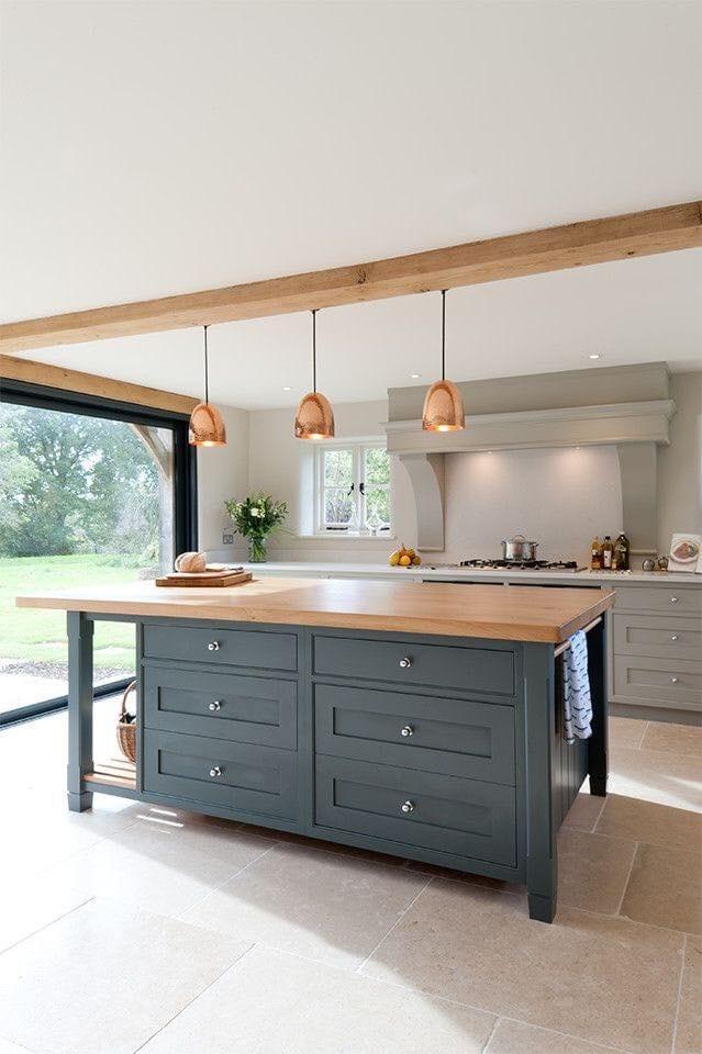 kitchen-ideas-rose-gold-pendant-light