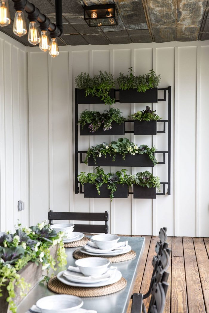 vertical herb wall