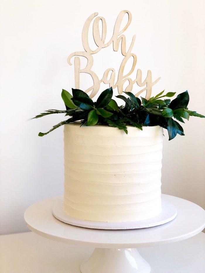 baby shower gender neutral cake