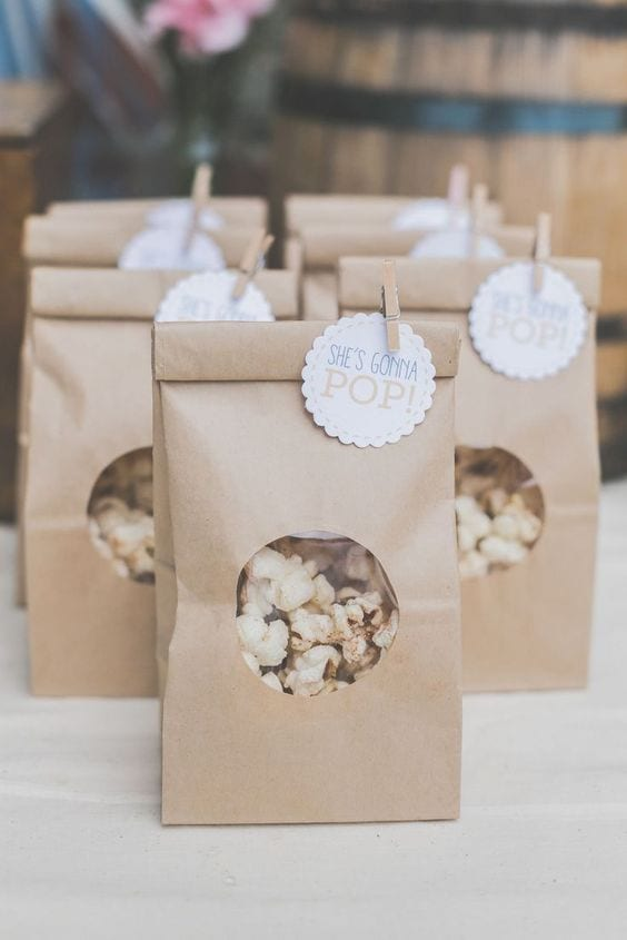 baby shower party favour popcorn