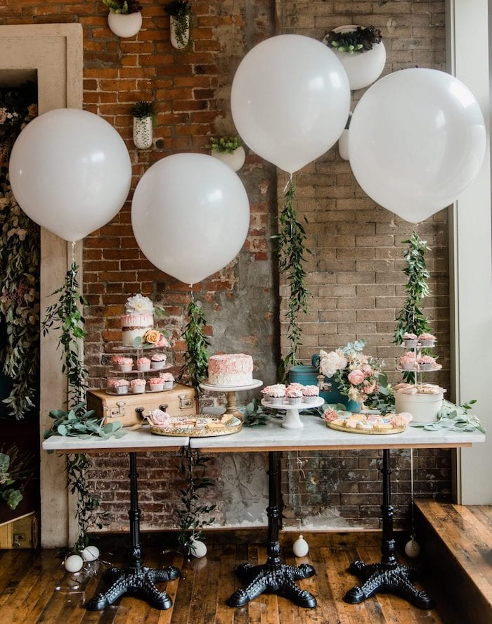 baby shower table styling