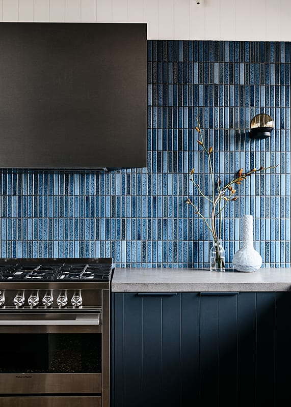 Blue finger tiles