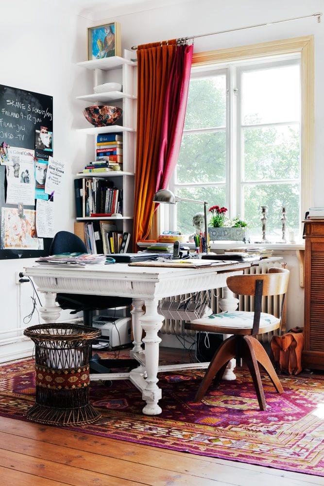 Boho home office