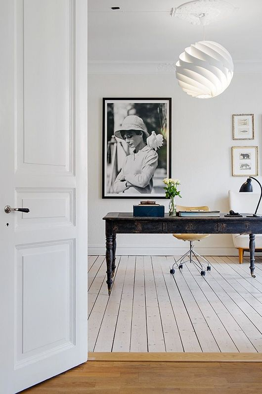 ceiling and task lighting for home office