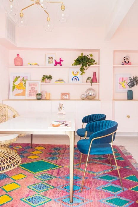 colourful home office ideas