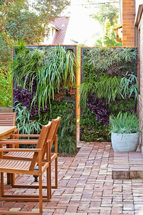privacy fence ideas with living wall