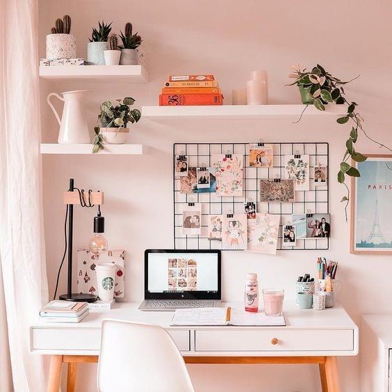 home-office-floating-shelves