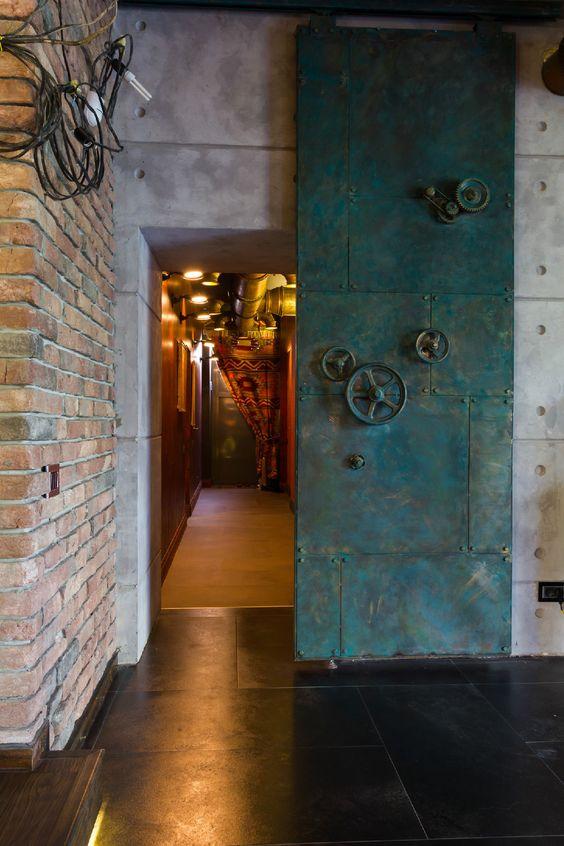 impressive entrance to mancave