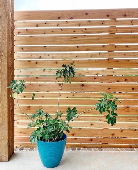 privacy fence ideas with vertical timber slats