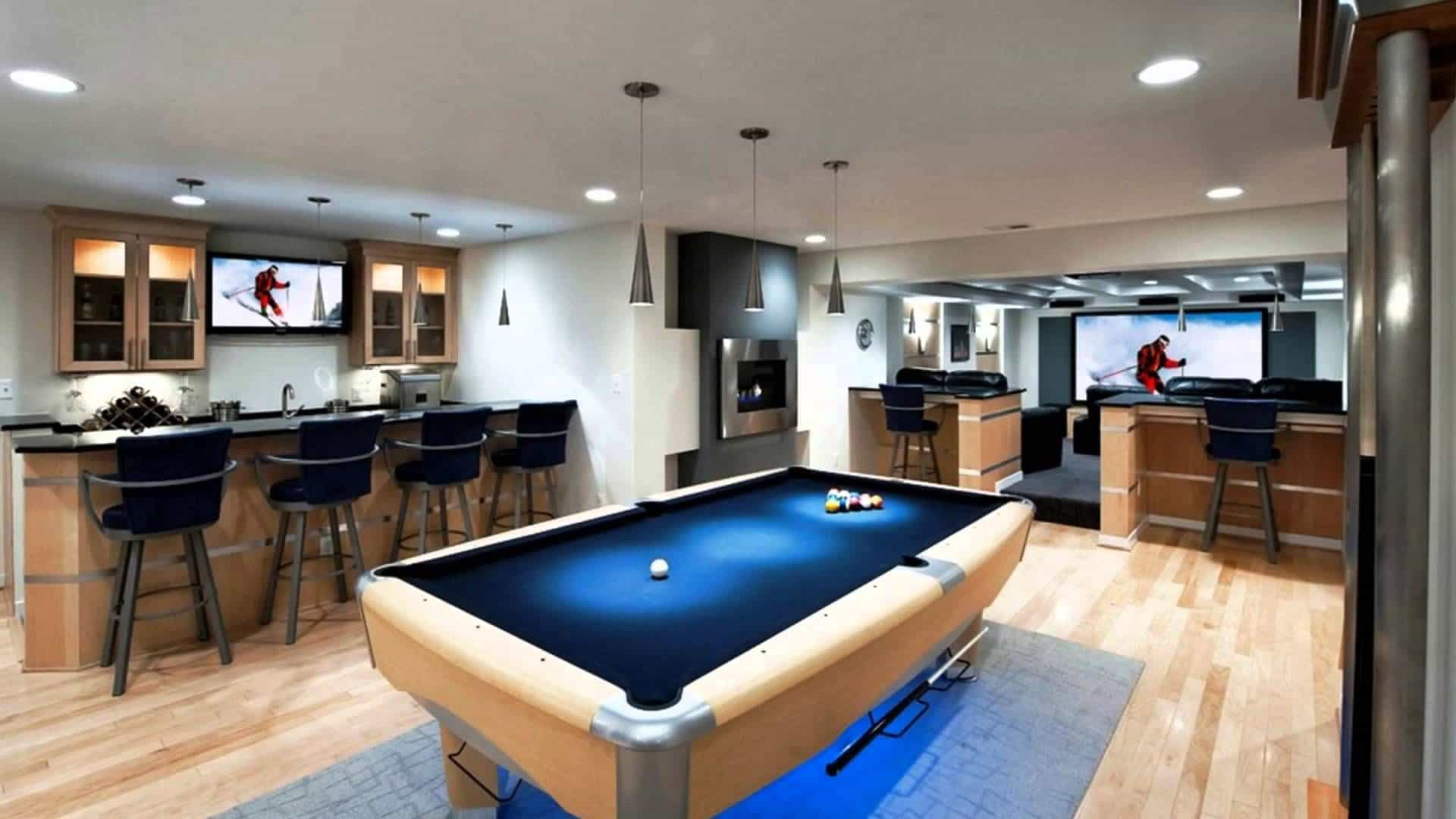 https://www.wearefound.com/awesome-man-cave-decorating-ideas/modern-man-cave-with-pool-table/