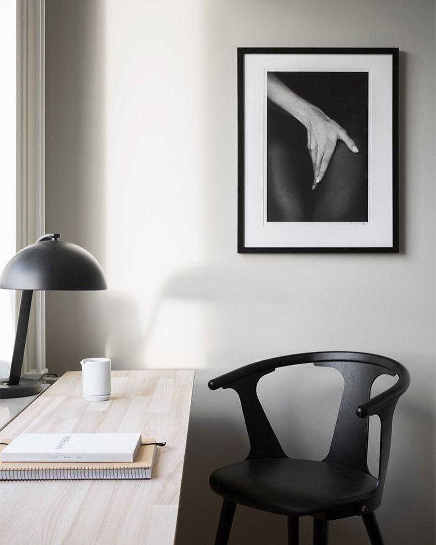monochrome home office ideas