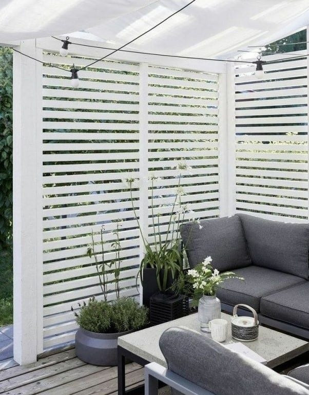 all white aesthetic for privacy fence