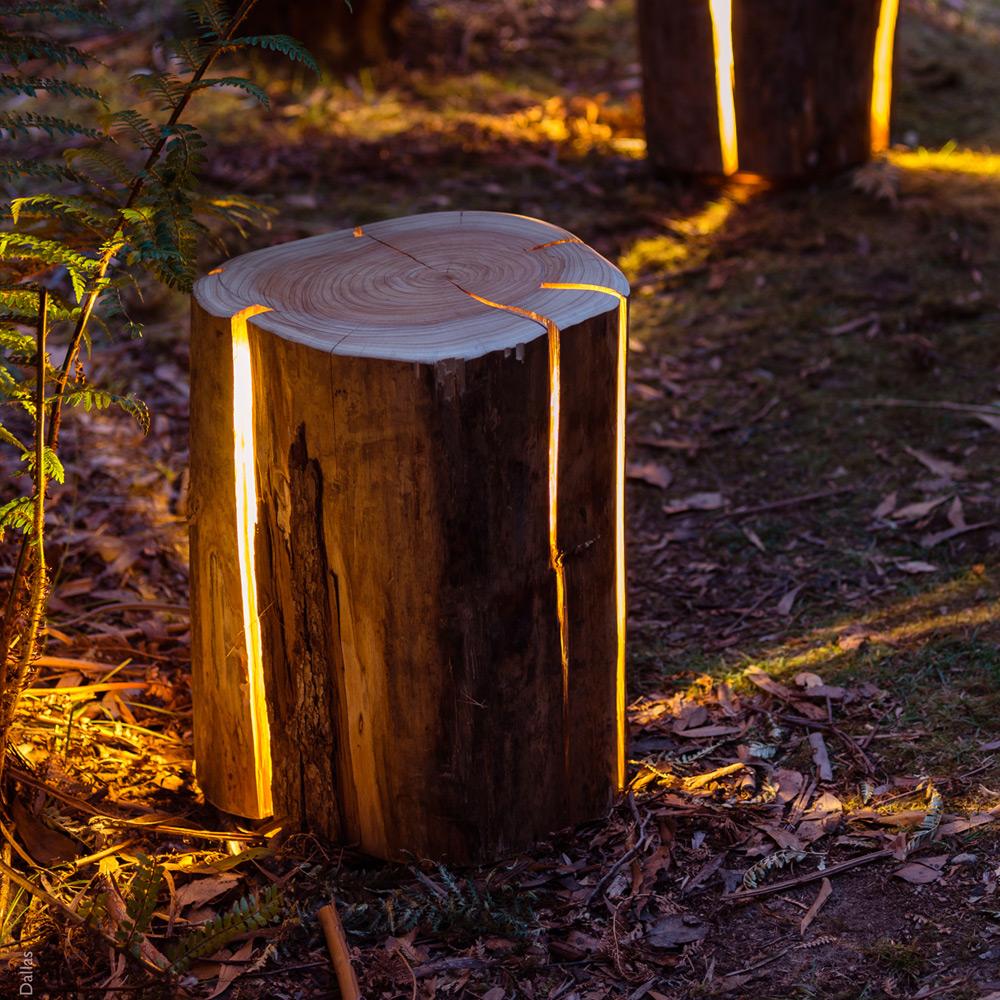Glow in the dark logs