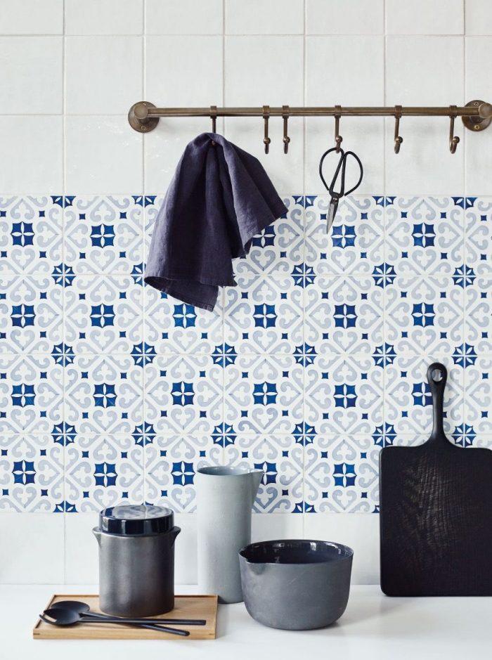Spanish blue tiles