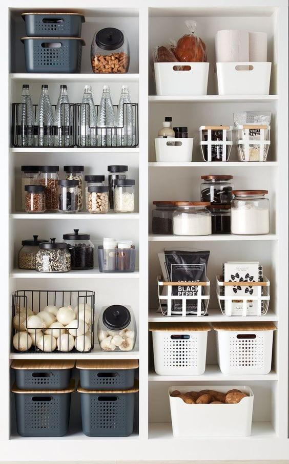 black and white kitchen storage ideas