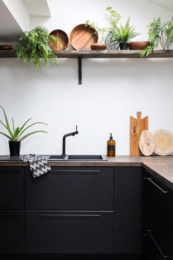 black kitchen storage ideas