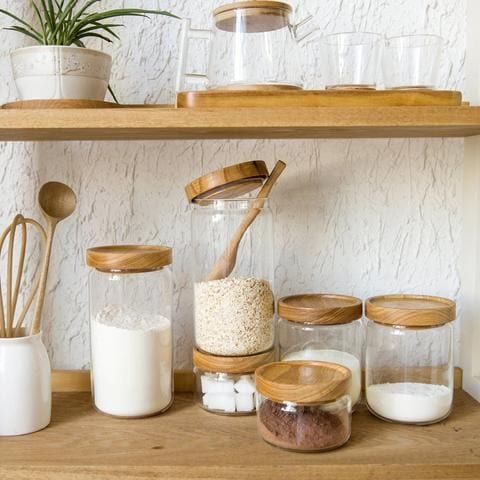 canisters for kitchen storage system