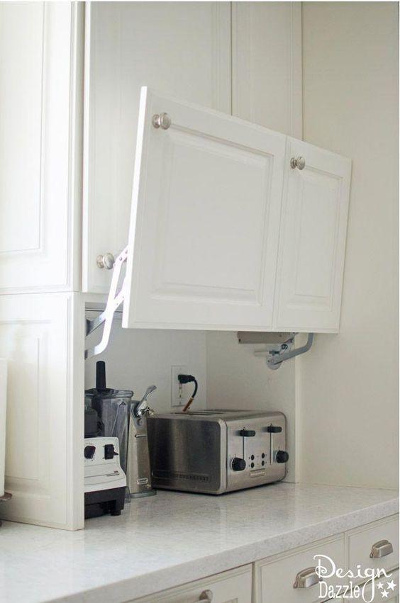 kitchen storage ideas for concealing appliances