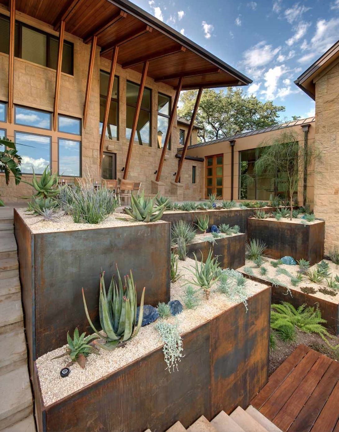 Copper retaining wall