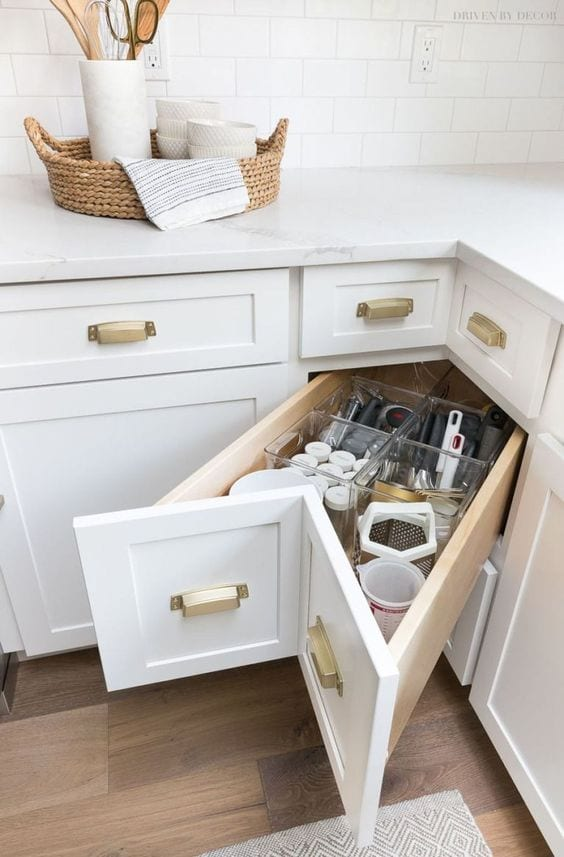 kitchen storage ideas with corner storage