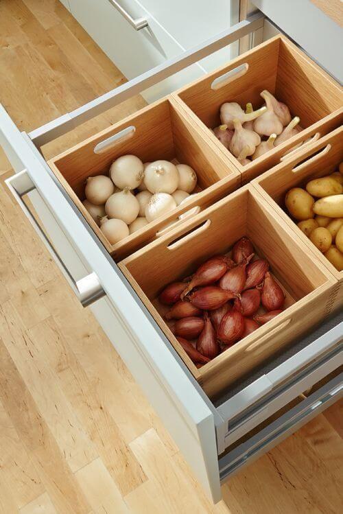 kitchen storage ideas with crates