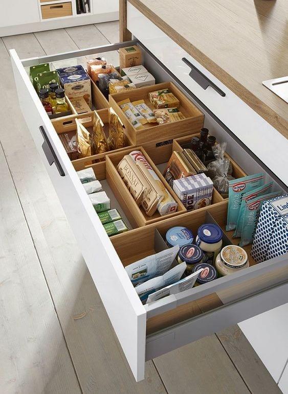 kitchen storage ideas with deep drawers