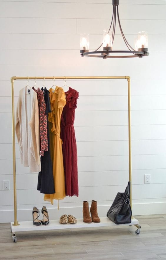 gold rolling rack