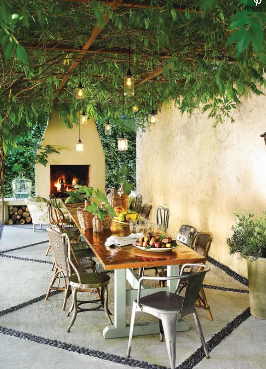 Mediterranean inspired patio