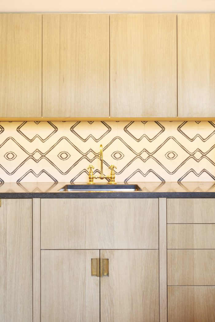 Moroccan kitchen splashback