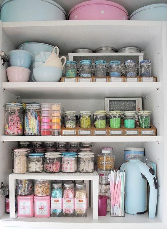 pastel kitchen storage ideas