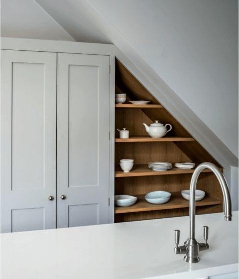 kitchen storage ideas under stairs