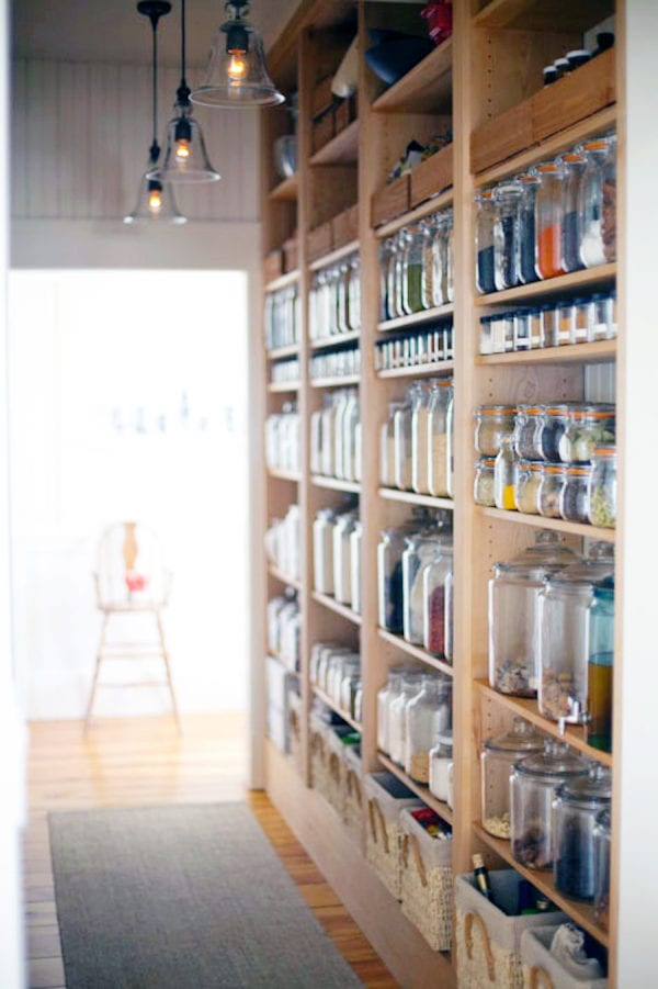 kitchen storage ideas with wall pantry