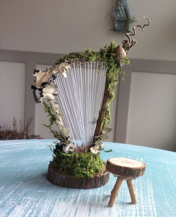 DIY mini fairy harp