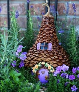 DIY pinecone house