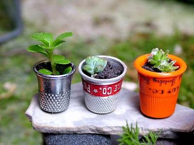 DIy fairy planters