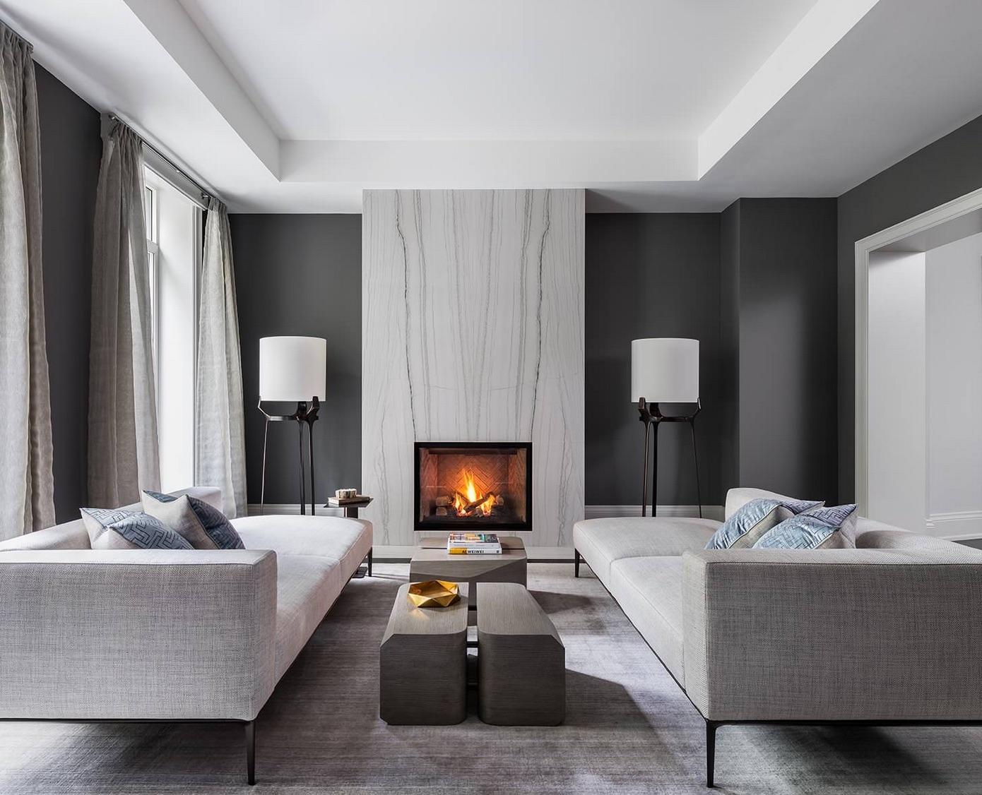 7+ Gorgeous grey living room ideas - paint colours, carpet and